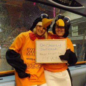 RAG Charity Jailbreak 2013 - Two penguins travel around the UK and raise £255