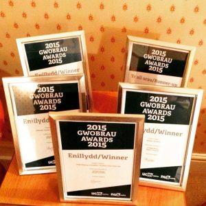 Bangor University Students' Union display their NUS Wales awards via their Instagram account (@umbangorsu)