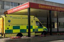 Ambulance at Welsh hospital