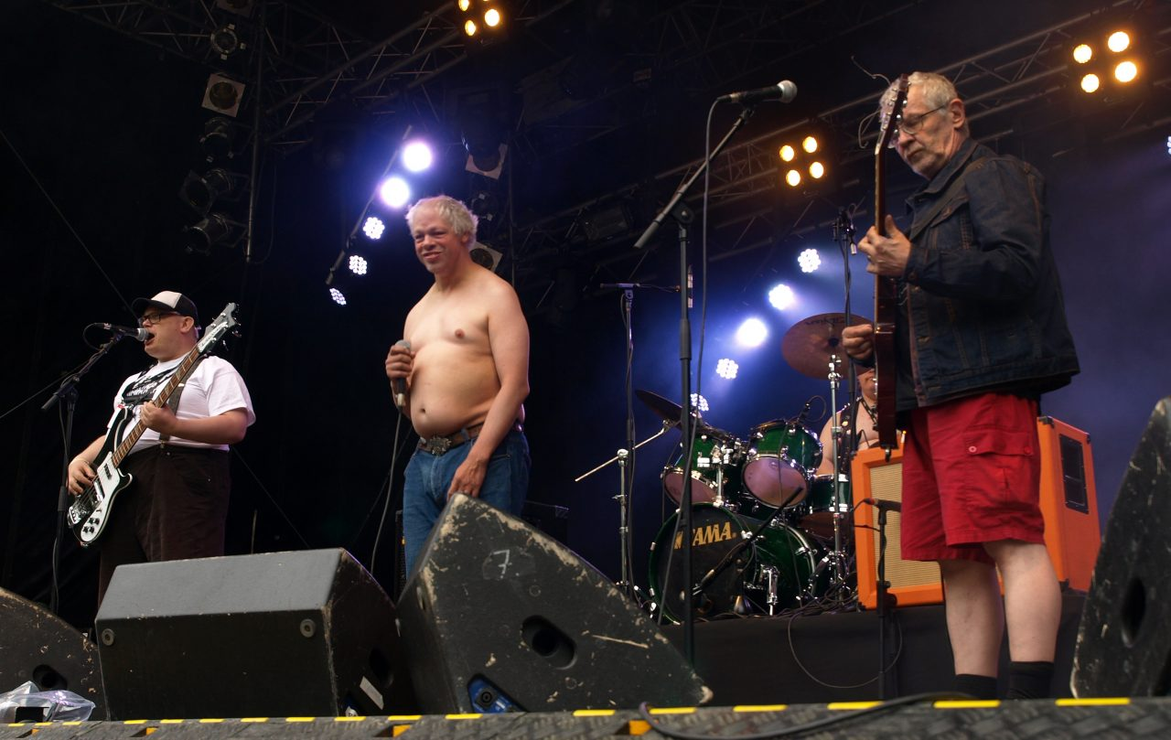 Pertti Kurikan Nimipäivät performing at Provinssirock in 2013. Photo by  Cecil K.