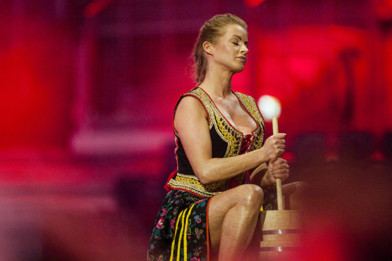 A dancer in Poland's entry at the Eurovision Song Contest 2014