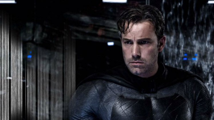 Affleck looking severely traumatised.