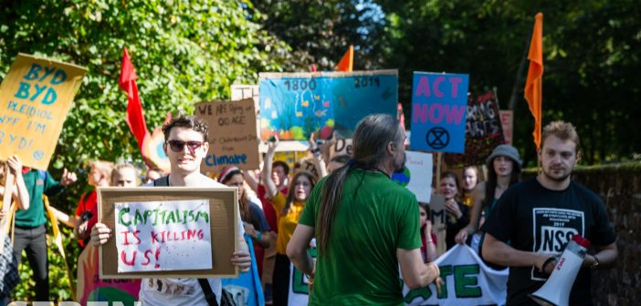 Global Climate Strike March: Bangor protest takes to the streets