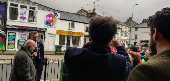 Plaid Cymru Leader Adam Price comes to Bangor for General Election